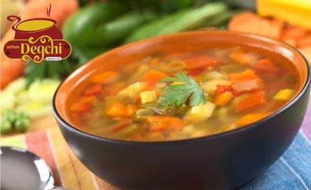 Urban Degchi Keshav Puram - Pay Rs. 499 for soups, starter and more worth Rs 1000 at Urban Degchi.