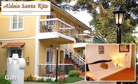 Aldeia Santa Rita Hotel Candolim, Goa - Pay Rs. 16999 for 3N/4D couple stay worth Rs. 22500 at Aldeia Santa Rita Hotel, Goa.