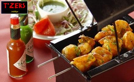 T'zers Saket - Tease your Taste Buds! Enjoy 25% off on Food and Beverages