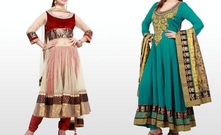 Tanu Designer Boutique Mohali - Rs. 19 for 20% off on Anarkali Suits! Elegant Ethnic Wear To Die For