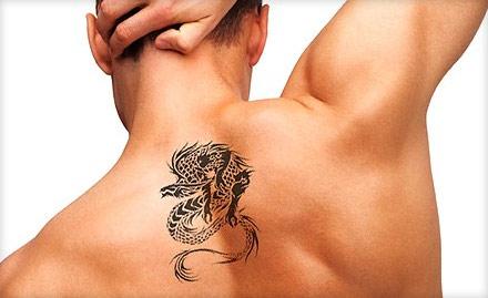 Venturo Hair Beauty And Tattoo Academy Himayat Nagar - Rs 599 for 6 inch permanent coloured tattoo