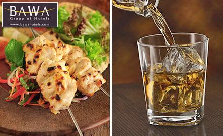 Hotel Bawa International Vile Parle - Buy 2 get 1 offer on food & beverages. Feast on exotic delicacies & fine blends!