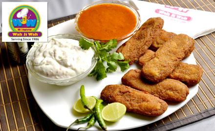 Wah Ji Wah Ramesh Nagar - Get 1 veg starter absolutely free on a minimum billing of Rs 400. Choose from soya jalpari, soya shashlik tikka, soya nuggets, soya seekh or mushroom kurkure!