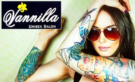Vanilla Unisex Salon Andheri West - 40% off on permanent tattoo. Flaunt your tattoo!