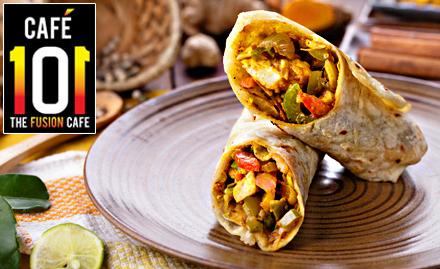 Cafe 101 Satya Niketan - 30% off on pizza, wraps, burgers & more
