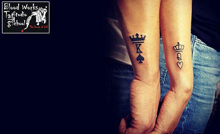 Blood Works Tattoo Studio & School Shahibaug - Get 60% off on permanent tattoo!