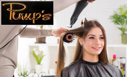 Pinups Spa Hair & Beauty Salon K.R.C. Road, Kumarpara - Get 60% off on rebonding, haircut, hair spa & more!