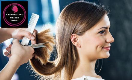 Hairrholicc Unisex Salon Deal, Offer
